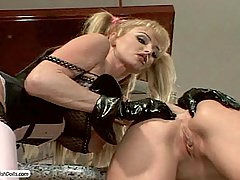 Fetish Pictures -  FetishNetwork.com - Two insatiable sluts in leather and latex