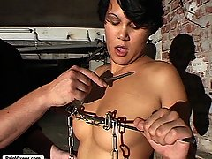Fetish Pictures -  FetishNetwork.com - A sweet slave endures pitiless humiliation at the hands of a tyrant