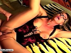 Fetish Pictures -  Kat Kleevage lets her subordinate lick her twat and meaty vulva