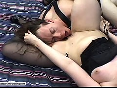Fetish Pictures -  Redhead cocktease smothers his air supply
