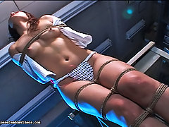 Femdom Pictures -  Twisted Kaho bends pure Juri over the table and gives her a spanking