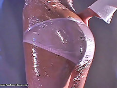 Femdom Pictures -  Innocent Amari and Chika arrive at school early only to be whisked away and covered in Plastic wrap by two she-devils