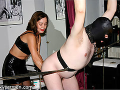 Extreme Pictures -  A plump mistress shows her hung slave exactly who is in complete control