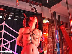 Slaves Pictures -  Terrified captive is bound