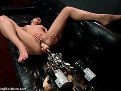 Fucking Machines Pictures -  MILF gets holes plugged by fucking machines, DP and anal play