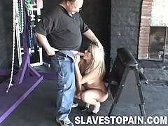Slaves Pictures -  Sexy slut Kira gets bound fucked and humiliated
