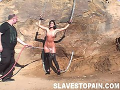Slaves Pictures -  Sexy India gets her trembling pussy abused and fucked and then humiliated