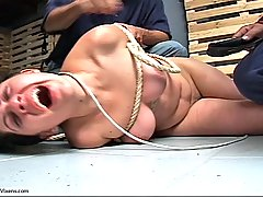 Pain Pictures -  Miserable slut is chained spanked and abused