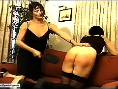 Spanking Pictures -  Frigid Femdomme punishes her sexy students for causing trouble