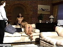 Spanking Pictures -  Layabout bitches mock authority until he breaks out the cane