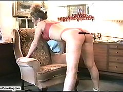 Spanking Pictures -  The repairman teaches her a lesson and gives her big round ass a sharp spanking