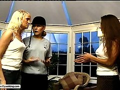 Spanking Pictures -  MILF Teacher sadistically canes and paddles her students