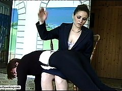 Spanking Pictures -  A pair of schoolgirls get their phat asses spanked paddled and caned