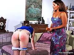Spanking Pictures -  Hot whore gets punished by her master