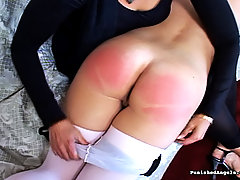 Spanking Pictures -  Tiny Ballerina slut gets bent over and spanked