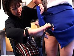 Spanking Pictures -  Young brat is spanked by her parents