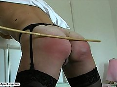 Spanking Pictures -  Young babe gets her hot ass tanned