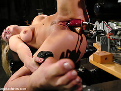 Fucking Machines Pictures -  Harmony Rose takes huge dildos on fuckingmachines