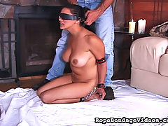 Slaves Pictures -  Hot wax and bondage fun photo
