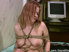 Slaves Pictures -  Young slut with perkey tits enjoys some asian bondage