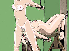BDSM Art Pictures -  Kidnapped slavegirls victims of their evil captors