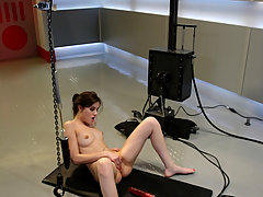 BDSM Toys Pictures -  18 year old, Sasha Grey gets her pussy pounded by machines.