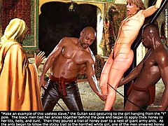 BDSM Art Pictures -  Some torture and wacking does not hurt her! Or does it? See for yourself!