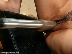Fucking Machines Pictures -  Fuckingmachine Squirt Off: Annie Cruz vs. Flower Tucci.