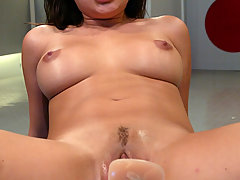 Fucking Machines Pictures -  Sativa Rose cums repeatedly with the machines working her pussy.