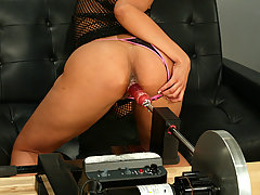 Fucking Machines Pictures -  Courtney, young and cute, gets fucked by our machines!