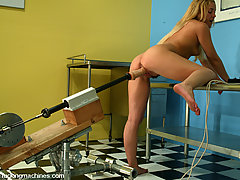 BDSM Toys Pictures -  Lainey gets pounded until she is totally fucked by a machine!