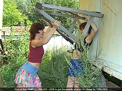 Wrestling Pictures -  Teen gets her head slammed by wooden sawhorse