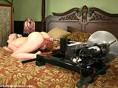 Fucking Machines Pictures -  Sharon Wild submits to her first on-camera anal intrusion.