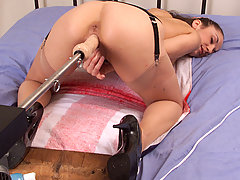 Fucking Machines Pictures -  Jewell Marceau enjoys our patented Probe/Fucksall combination