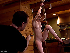 Bondage Pictures -  Tahoe: Exiled from Dick Mountain pt 4: Busy day out doors