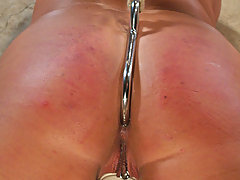 Amateurs Pictures -  Mia gets her round ass caned while exquisitely bound in the dungeon