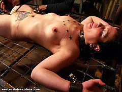 Amateurs Pictures -  Marley cums repeatedly on her journey through the Bondage Attic