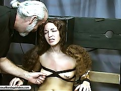 Amateurs Pictures -  Master Len subjects sensuous Nicole to a variety of bondage exercises