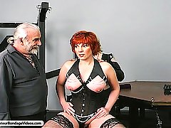 Amateurs Pictures -  Big Titted MILF gets her entire body beaten and tortured by Master Len