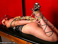 Amateurs Pictures -  Naga withstands mistress Bridgett\'s tortuous toys and giant dildo
