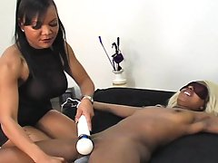 Femdom Pictures -  Creamy mocha Carmen is bound and relentlessly tickled by Goddess Sonya