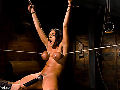 BDSM Pictures -  Charley is incapable of stopping her powerful squirting orgasms