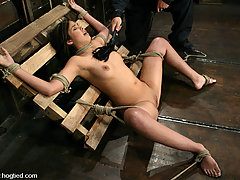 BDSM Pictures -  Experience Celena's first bondage form begining to end