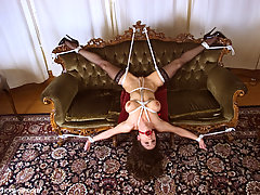Punishment Pictures -  Sexy Jewell Marceau is tied to the couch.