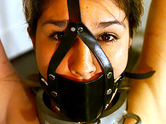 Punishment Pictures -  Passion gets bound, gagged, and her nipples clamped.