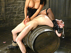 Femdom Pictures -  Mika Tan's Dungeon, uses him and leaves him to his luck