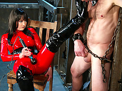 Femdom Pictures -  Pro-Dominatrix, Mistress Aradia, tears into her fresh meat