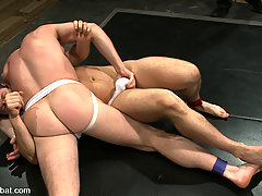 Gay Pictures -  Naked and hard Tristan Jaxx fights sexy Dean Tucker for the first time.