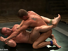 Gay Pictures -  Two muscle gods fight naked for sexual domination in the end.