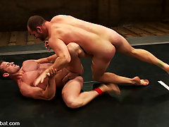 Gay Pictures -  Rusty Stevens and David Chase are slamming their bodies to the mat for the fuck domination.